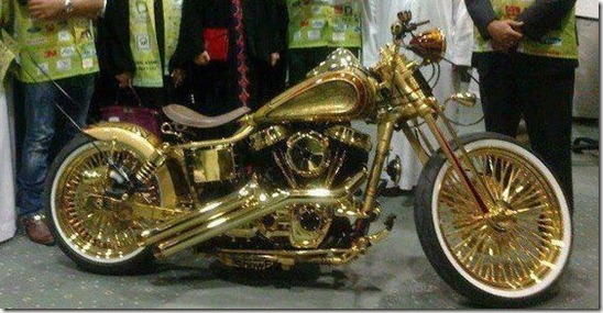 21 KILO BIKE MADE OF GOLD