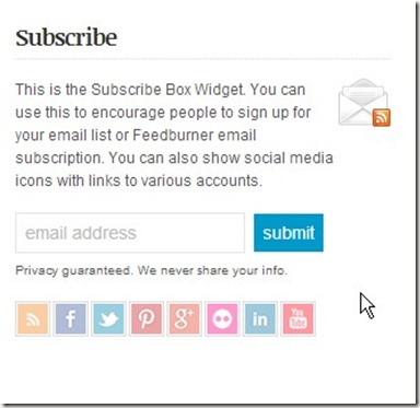 neat Subscribe Box Widget. form