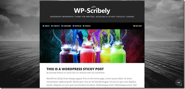 wp scribely theme  by solostream premuim theme